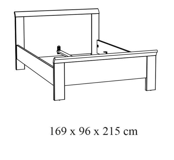 2-pers. Bed Benja-16 tekening