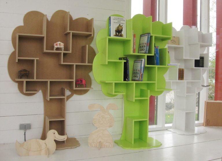 Boekenkast-Louane-Groen-Wit-Naturel