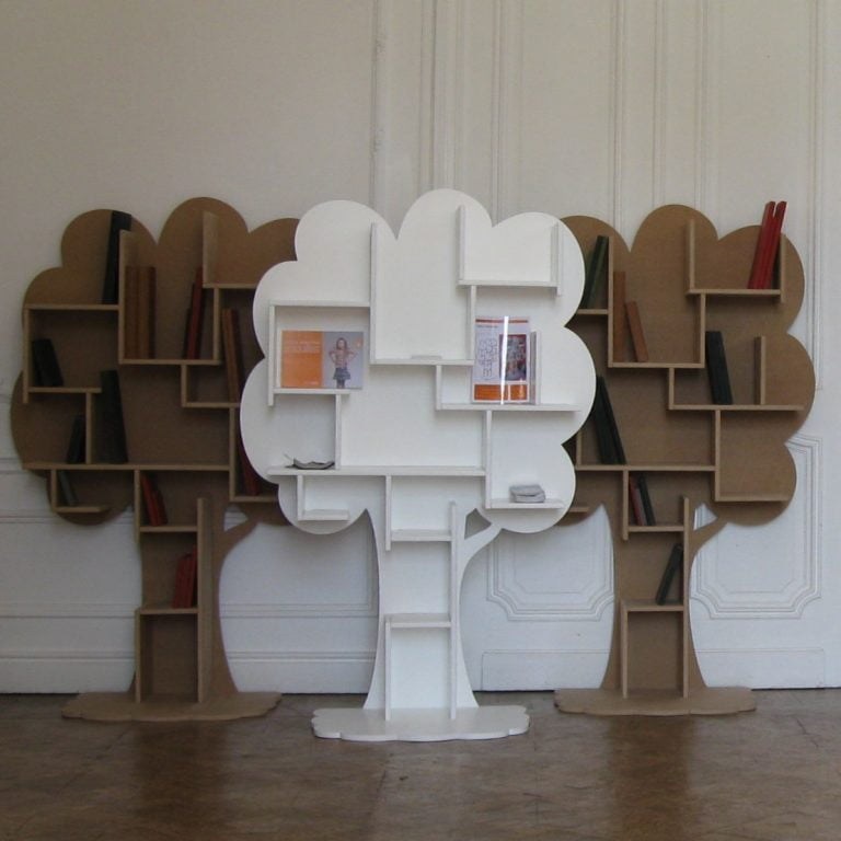 Boekenkast-Louane-Wit-Naturel