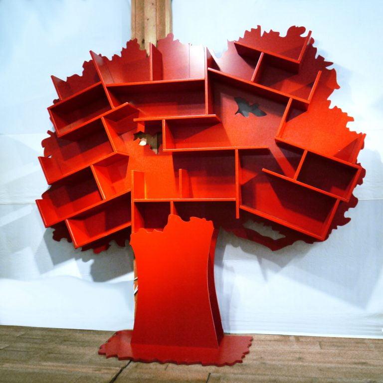 Boekenkast-Tess-Tomaten-Rood