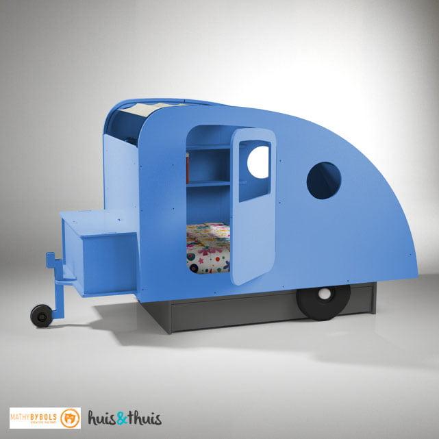 Caravanbed-Azurblauw Mathy By Bols