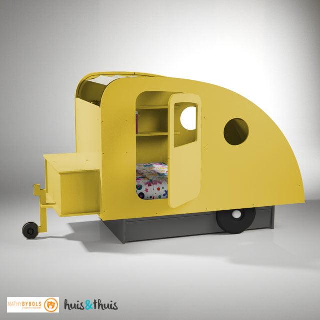 Caravanbed-bananen-geel Mathy by bols