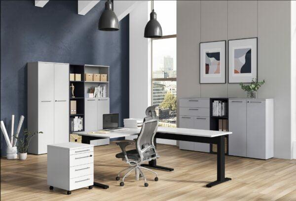 Hoge bureaukast Ergonoma-2DHBO-LG