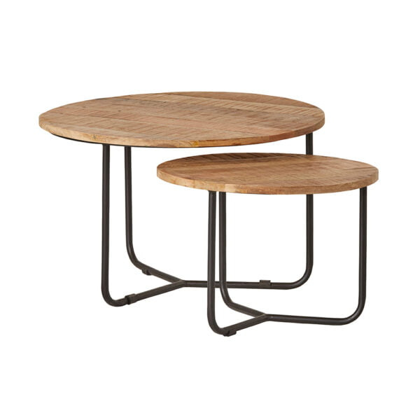 Kendari salontafel set rond 2